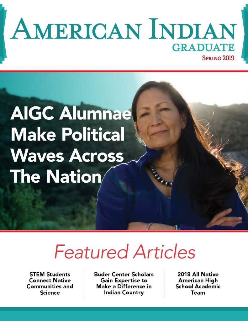 American Indian Graduate magazine Spring 2019 Cover