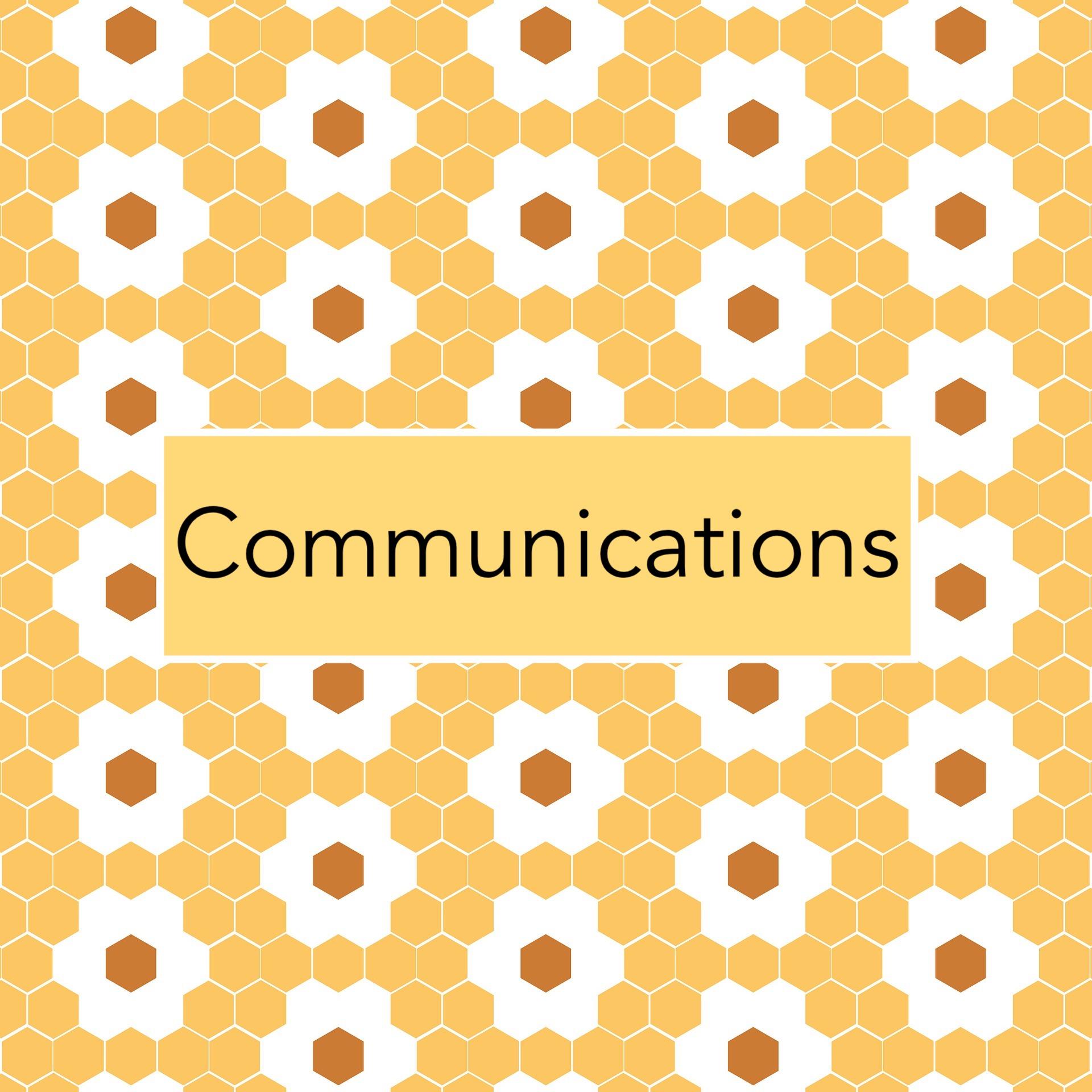 Communications tile flower hexagons