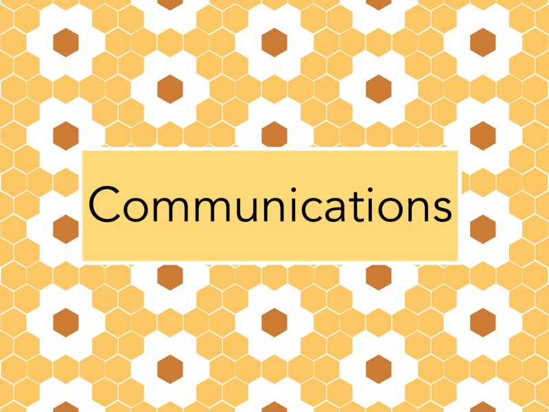 Communications tile flower hexagons