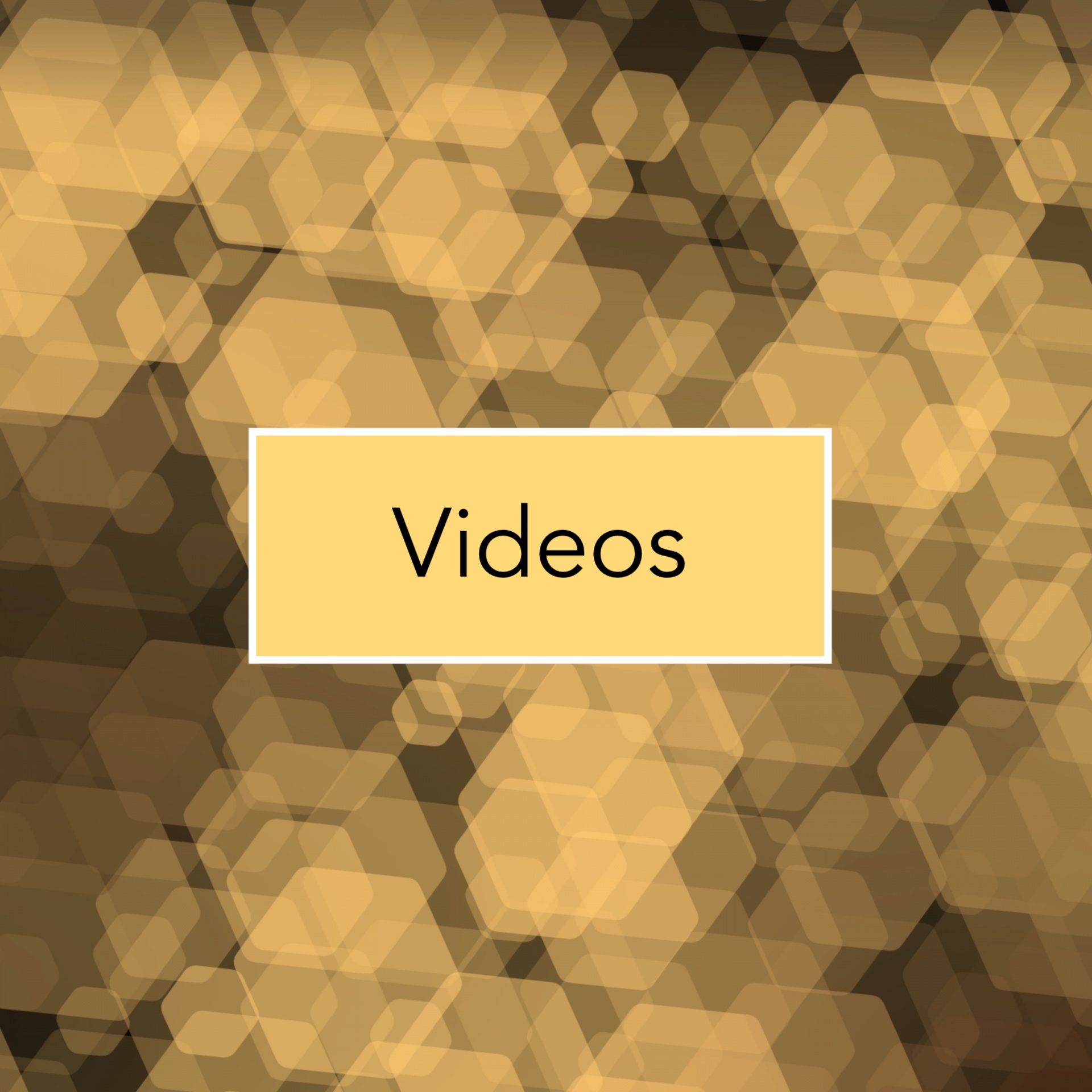 Videos yellow blurred hexagons
