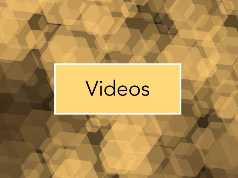 Videos yellow blurred hexagons